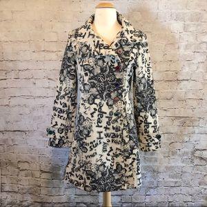 Desigual Tapestry Graffiti Jacket Coat Size 38